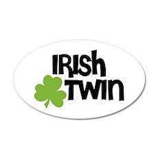Irish Twin Shamrock Wall Decal