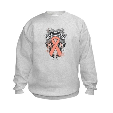 Support Uterine Cancer Cause Kids Sweatshirt