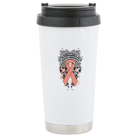 Support Uterine Cancer Cause Ceramic Travel Mug
