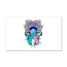 Support Thyroid Cancer Cause Car Magnet 20 x 12