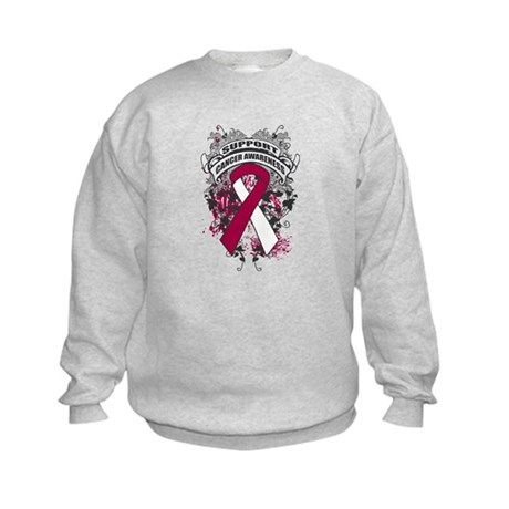 Support Throat Cancer Cause Kids Sweatshirt