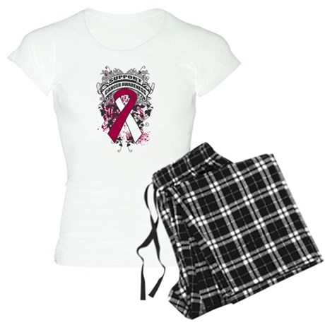 Support Throat Cancer Cause Women's Light Pajamas