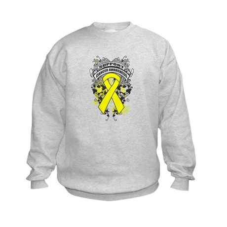 Support Testicular Cancer Cause Kids Sweatshirt