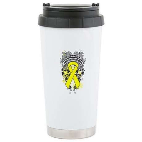 Support Testicular Cancer Cause Ceramic Travel Mug