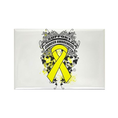 Support Testicular Cancer Cause Rectangle Magnet