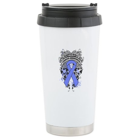 Support Stomach Cancer Cause Ceramic Travel Mug