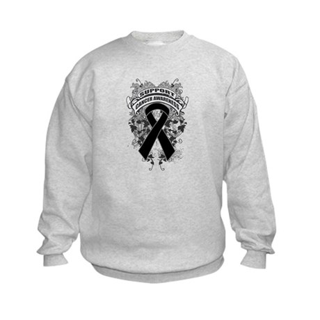 Support Skin Cancer Cause Kids Sweatshirt