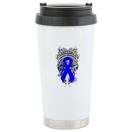 Support Rectal Cancer Cause Ceramic Travel Mug