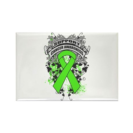 Support Lymphoma Cause Rectangle Magnet