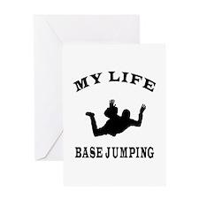 My Life Base Jumping Greeting Card