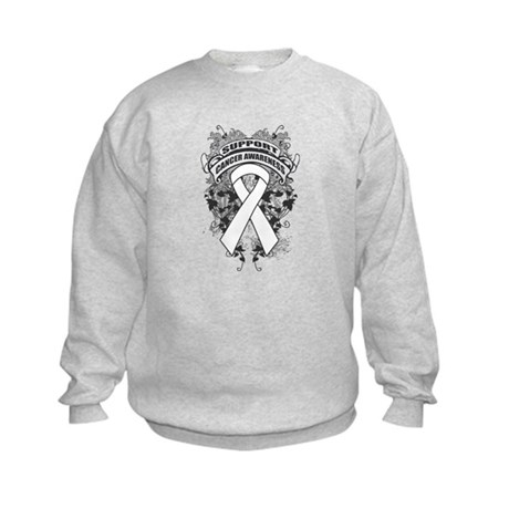 Support Lung Cancer Cause Kids Sweatshirt