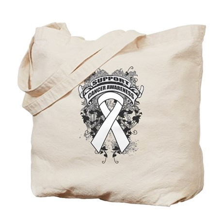 Support Lung Cancer Cause Tote Bag