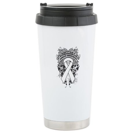 Support Lung Cancer Cause Ceramic Travel Mug