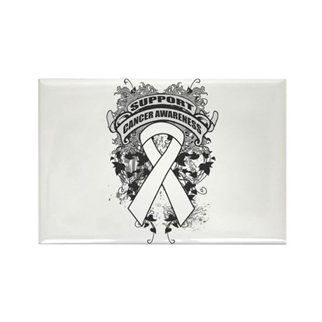 Support Lung Cancer Cause Rectangle Magnet