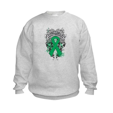 Support Liver Cancer Cause Kids Sweatshirt