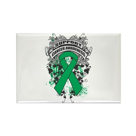 Support Liver Cancer Cause Rectangle Magnet