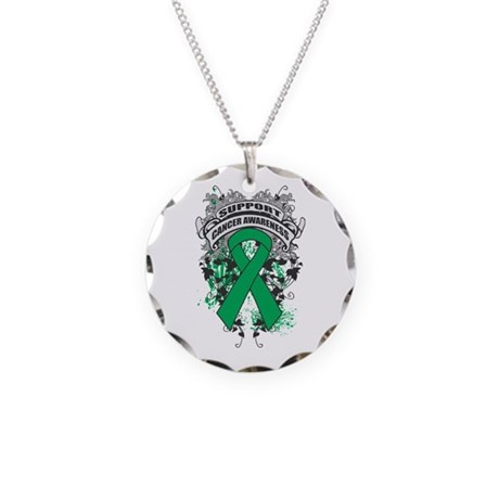 Support Liver Cancer Cause Necklace Circle Charm
