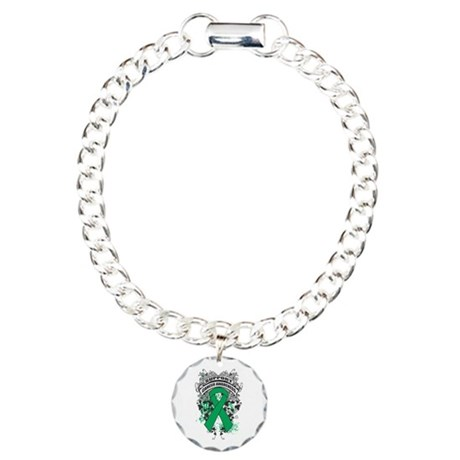 Support Liver Cancer Cause Charm Bracelet, One Cha