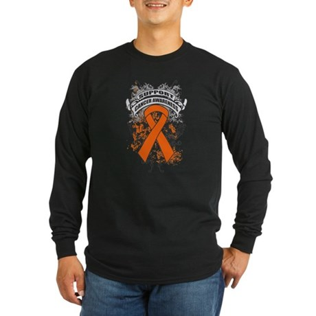 Support Leukemia Cause Long Sleeve Dark T-Shirt