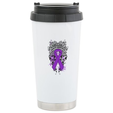 Support Leiomyosarcoma Cause Ceramic Travel Mug