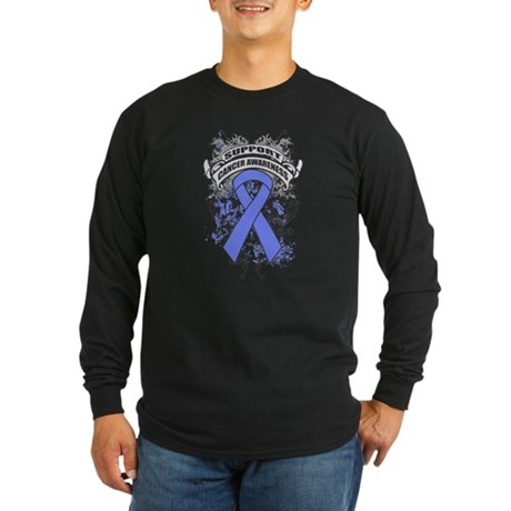 Support Intestinal Cancer Cause Long Sleeve Dark T