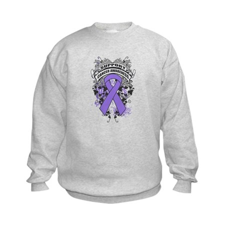 Support Hodgkins Lymphoma Cause Kids Sweatshirt