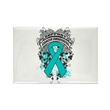 Support Gynecologic Cancer Cause Rectangle Magnet