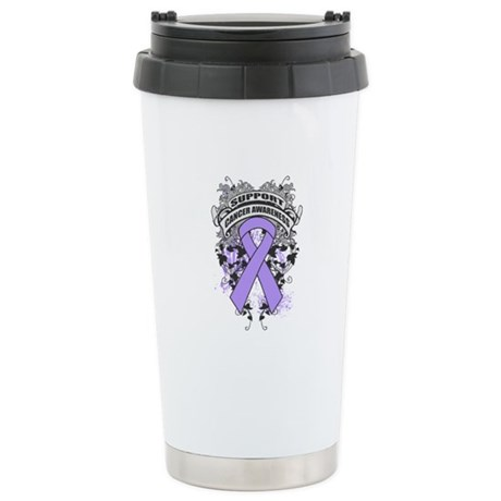 Support General Cancer Cause Ceramic Travel Mug