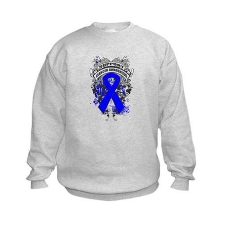 Support Colon Cancer Cause Kids Sweatshirt