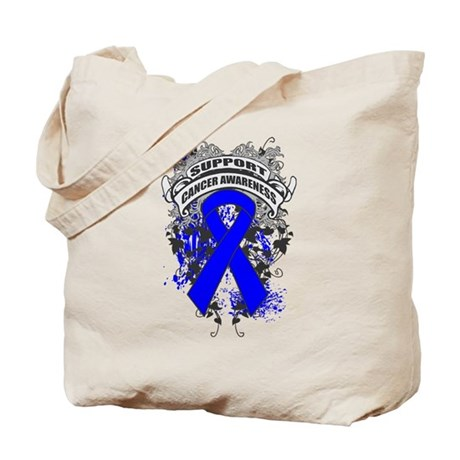 Support Colon Cancer Cause Tote Bag