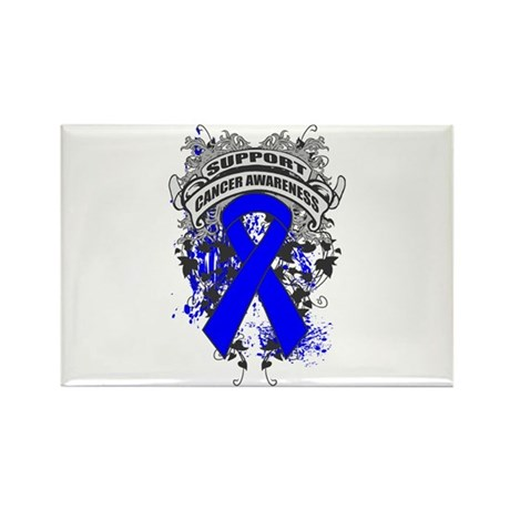 Support Colon Cancer Cause Rectangle Magnet