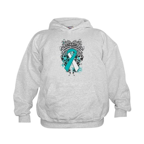 Support Cervical Cancer Cause Kids Hoodie
