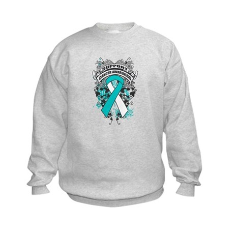 Support Cervical Cancer Cause Kids Sweatshirt