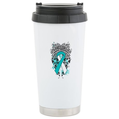 Support Cervical Cancer Cause Ceramic Travel Mug