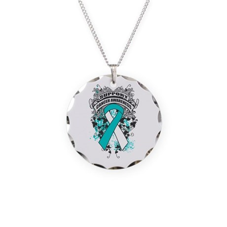 Support Cervical Cancer Cause Necklace Circle Char