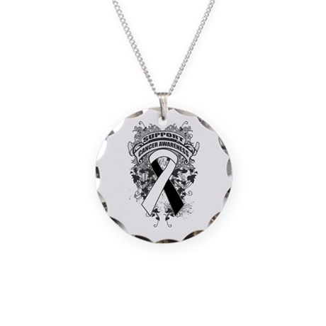 Support Carcinoid Cancer Cause Necklace Circle Cha