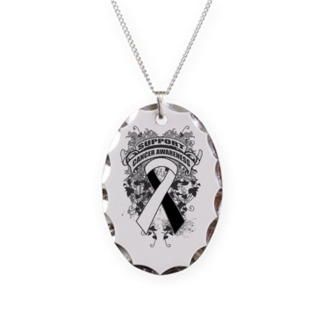 Support Carcinoid Cancer Cause Necklace Oval Charm