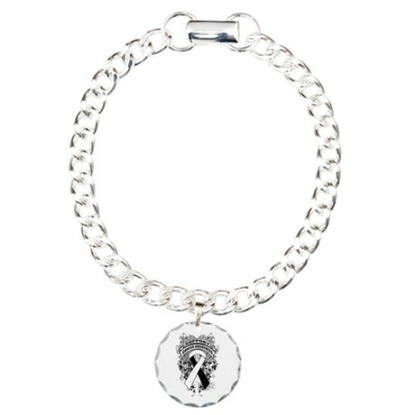 Support Carcinoid Cancer Cause Charm Bracelet, One