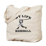 My Life Baseball Tote Bag