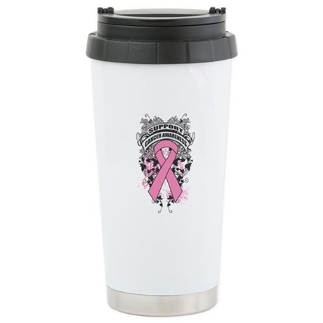Support Breast Cancer Cause Ceramic Travel Mug
