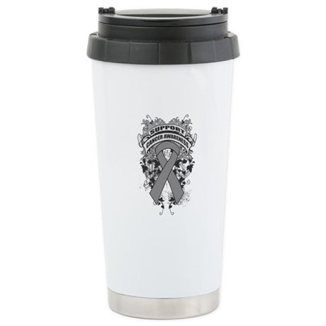 Support Brain Tumor Cause Ceramic Travel Mug