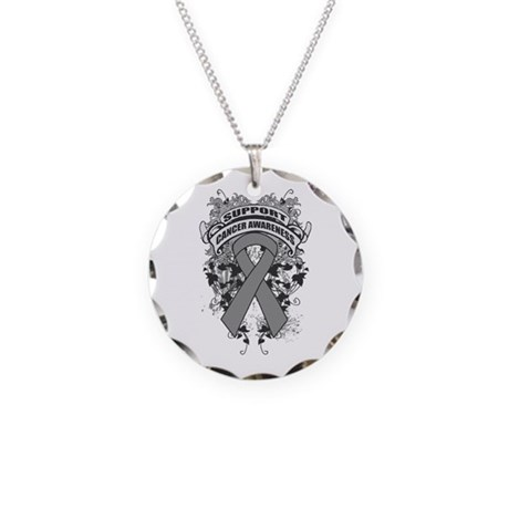 Support Brain Tumor Cause Necklace Circle Charm