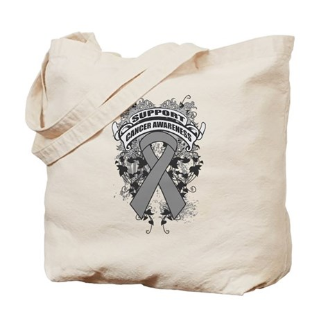 Support Brain Cancer Cause Tote Bag