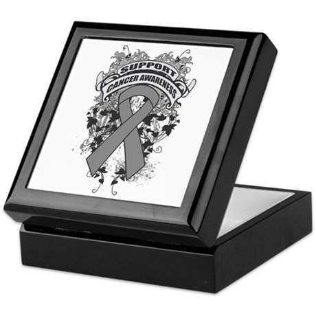Support Brain Cancer Cause Keepsake Box