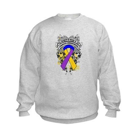 Support Bladder Cancer Cause Kids Sweatshirt