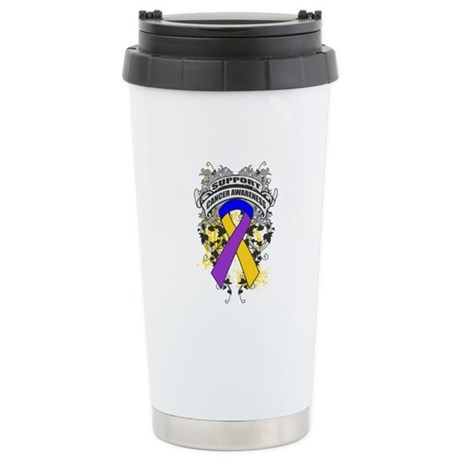Support Bladder Cancer Cause Ceramic Travel Mug
