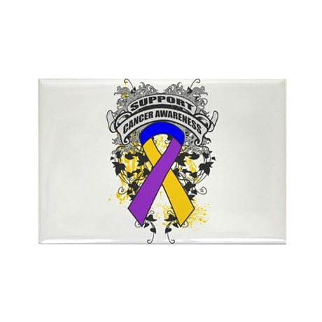 Support Bladder Cancer Cause Rectangle Magnet