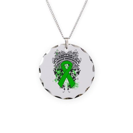 Support Bile Duct Cancer Cause Necklace Circle Cha