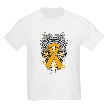 Support Appendix Cancer Cause Kids Light T-Shirt
