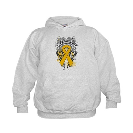 Support Appendix Cancer Cause Kids Hoodie